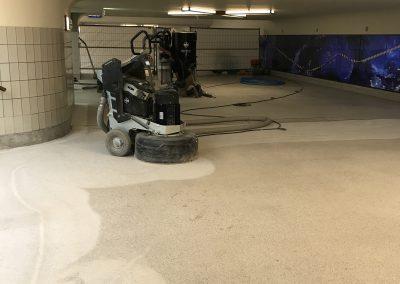 Slijpen en polijsten Terrazzo vloer