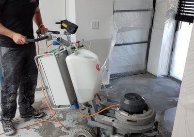 Schade herstel betonvloer