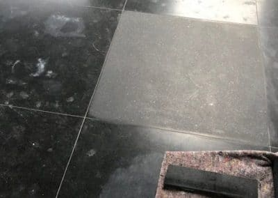 Schade herstel graniet vloer Domburg