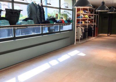 Natuursteen vloer onderhoud Bos Men Shop Goes