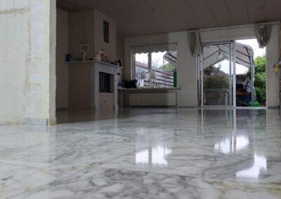 bianco Carrara marmeren vloer