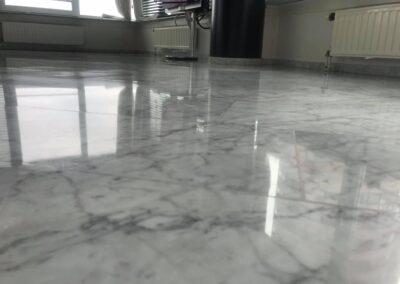 bianco Carrara marmeren vloer Vlissingen